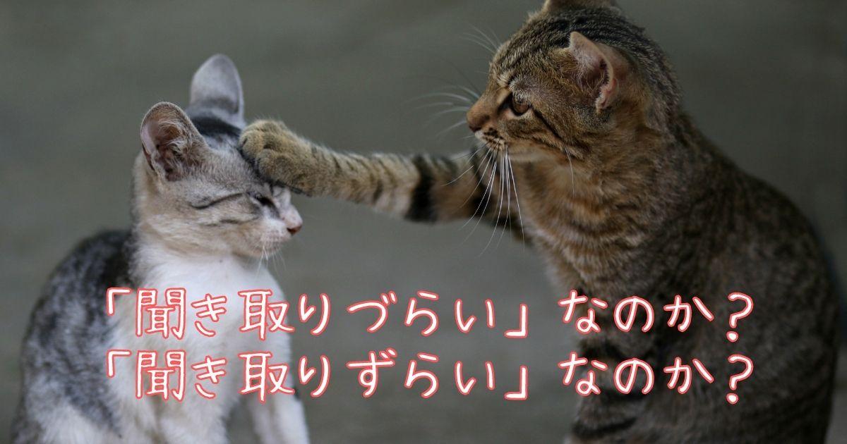 難しい日本語「聞き取りづらい」なのか「聞き取りづらい」なのか